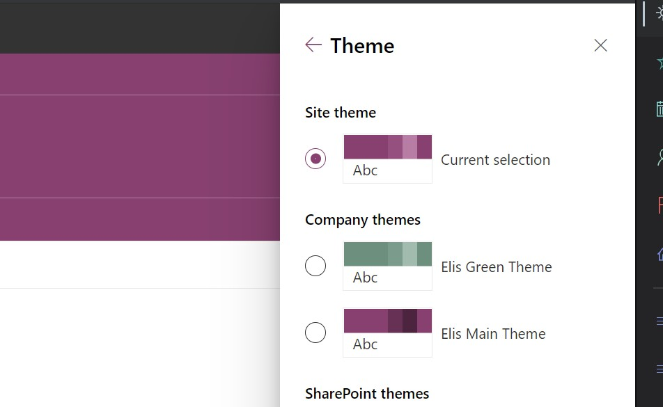 add a custom color theme to SharePoint Online using PNP powershell